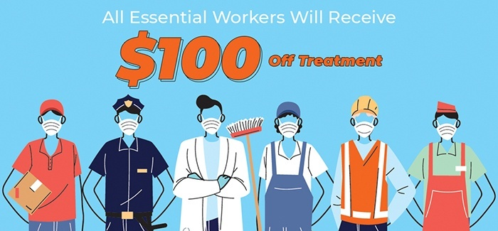 Essential worker special coupon